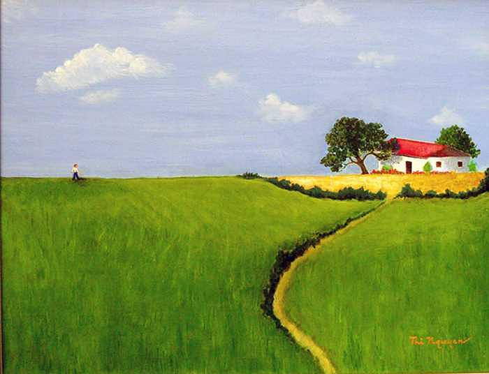 Landscape Painting - Come Back Home by Thi Nguyen