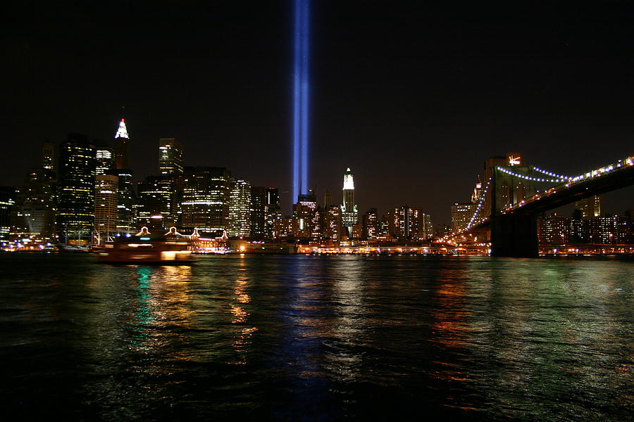 911 Memorial Lighting Photograph by Dennis Curry