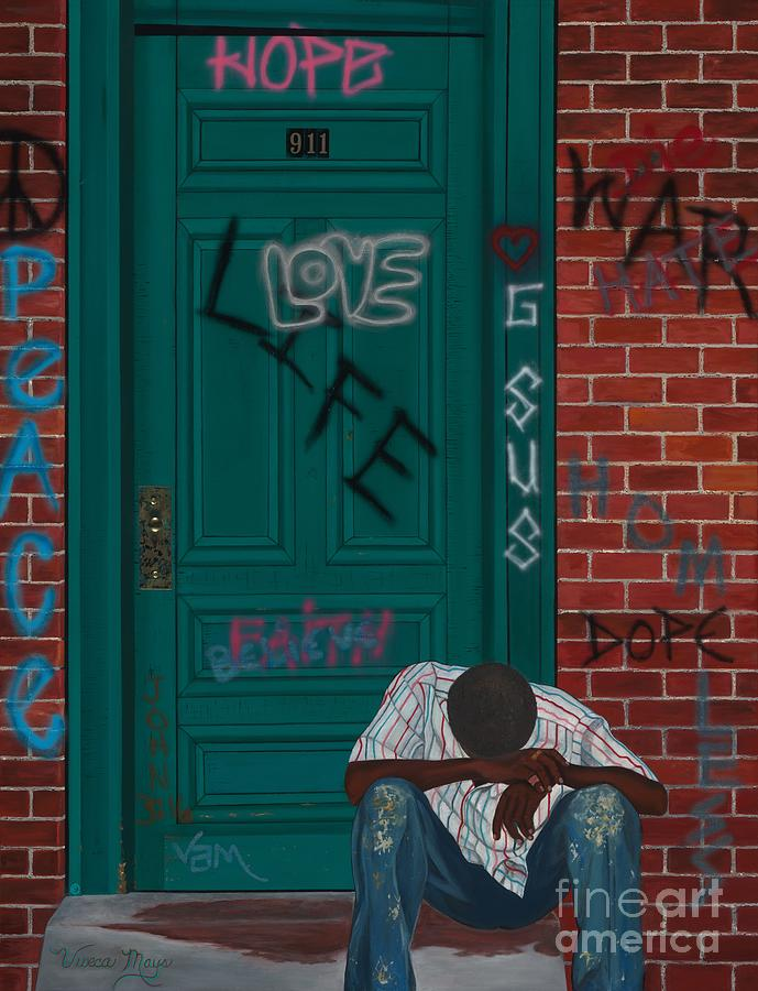 Homeless Painting - 911 by Viveca Mays