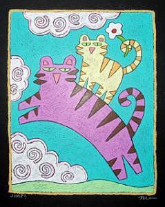 Jump Painting by Nancy  Coffelt