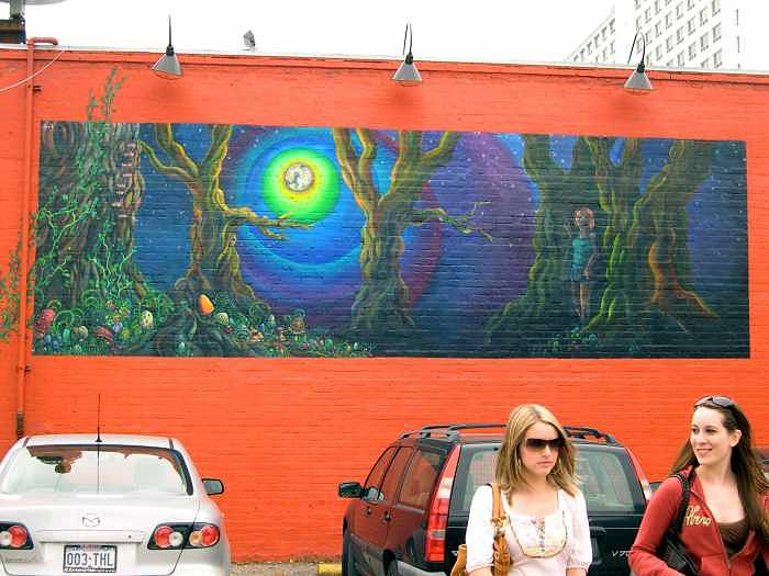 Mellow Mushroom Painting - Mellow Mushroom Mural by Kaley LaRose