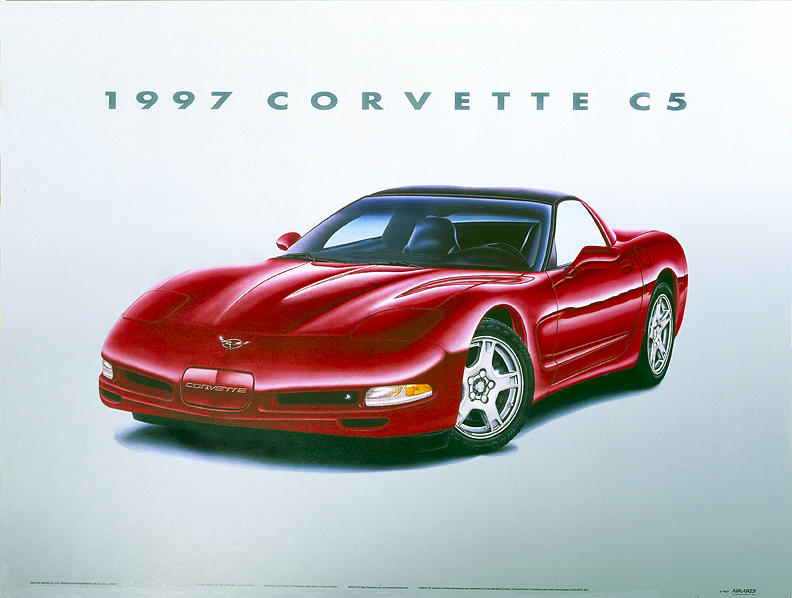 Cars Painting - 97 Corvette by Hugo Prado