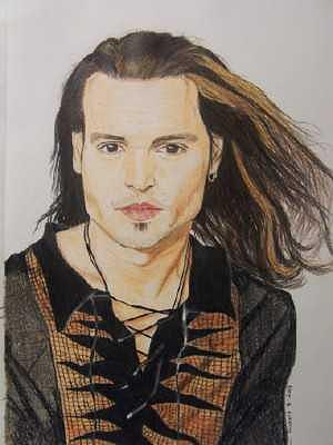 Johnny Depp Drawing - Johnny Depp by Sherri Ward