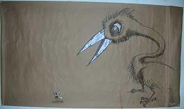 99 Cent Run Painting by Meat-Jeffery Paul Gadbois
