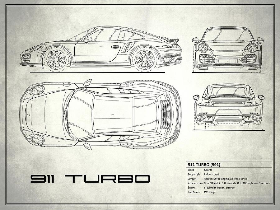 991 turbo blueprint photograph by mark rogan porsche photograph 991 turbo blueprint by mark rogan malvernweather Choice Image