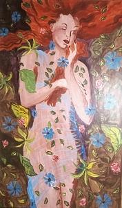 Fantasy Painting - The Dreamer Original Framed by Christine Ward