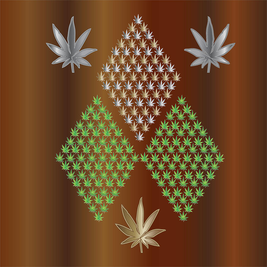 Weed Digital Art - 9D2 by Larry Waitz