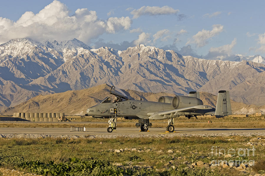 A-10 Photograph - A-10 Warthog At Bagram by Tim Grams