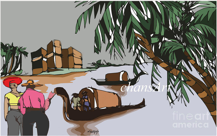 Painting Painting - A 42 by Chandrasekharan Chans