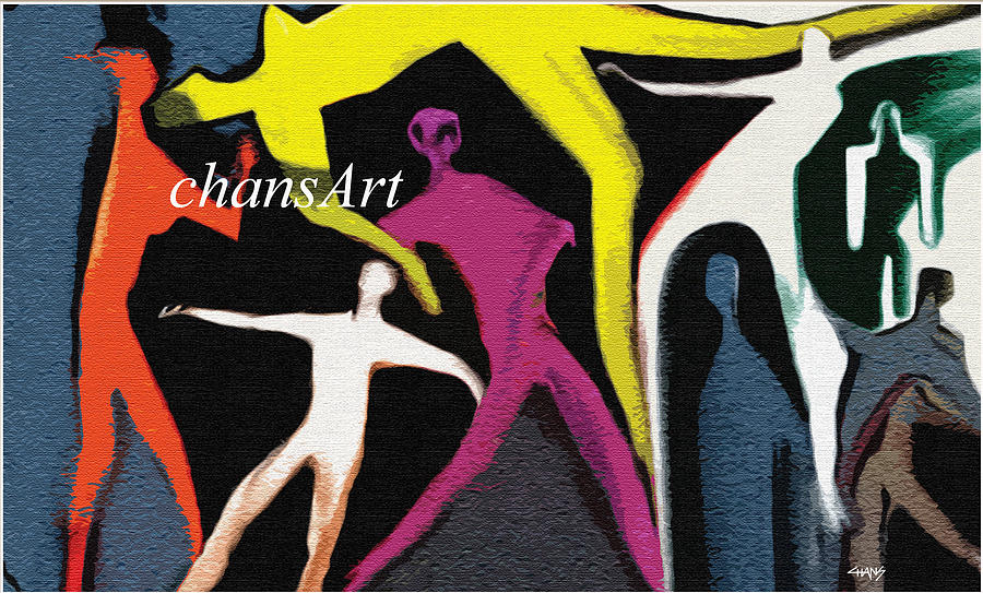 Painting Painting - A 78 by Chandrasekharan Chans