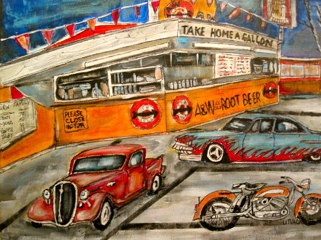 A&w Painting - A And W 1950 by Michael Litvack