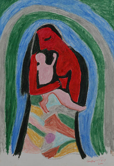 Mother Painting - A Babys View of Mother by Harris Gulko
