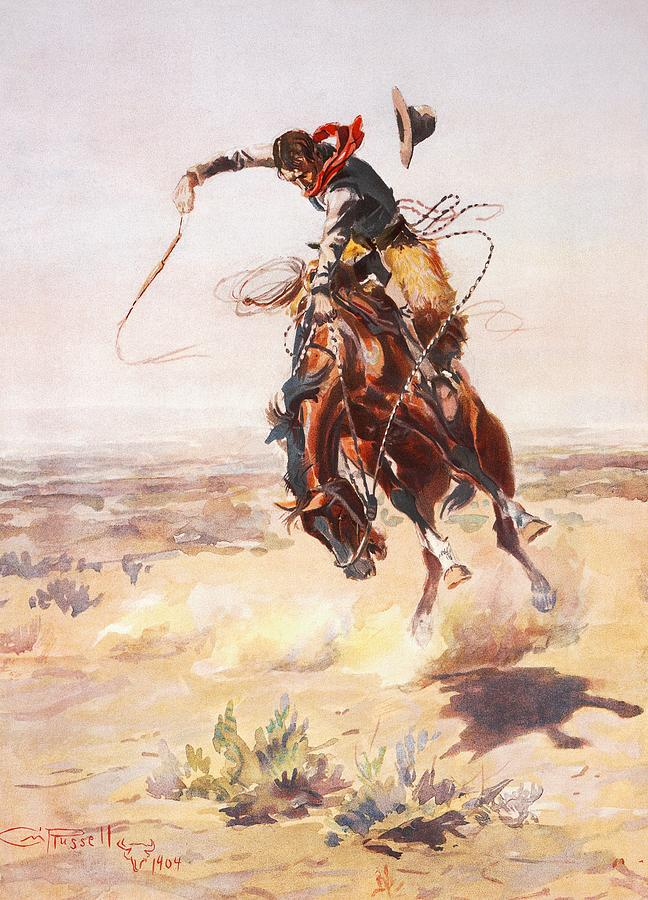 Charles Russell Digital Art - A Bad Hoss by Charles Russell