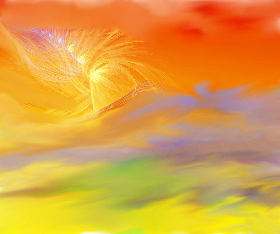 Religion.death Digital Art - A Band Of Angels Coming After Me by David Lane