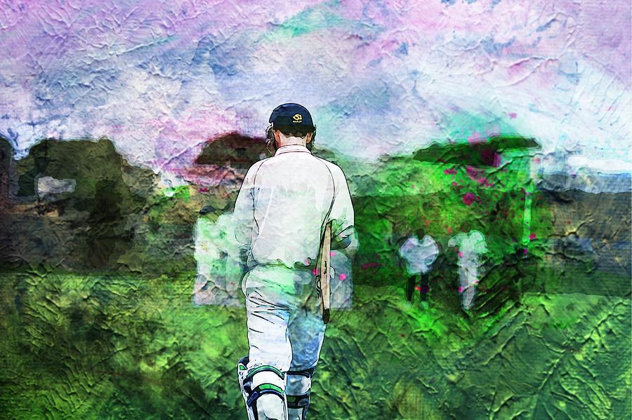 Batting Photograph - A Batsmans World by Zahra Majid