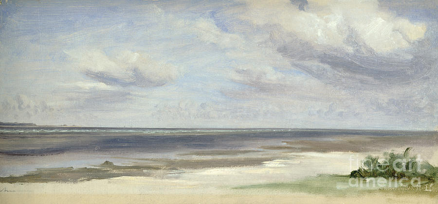 Beach Painting - A Beach On The Baltic Sea At Laboe by Jacob Gensler