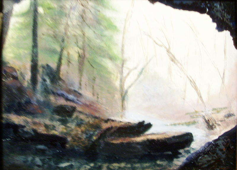Cave Painting - A Bears View by Gail Kirtz