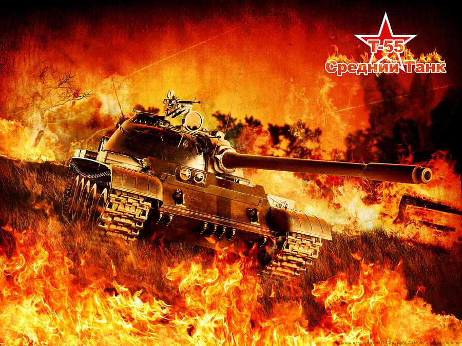 Army Digital Art - A Beast Into The flames by Gino Marcomini