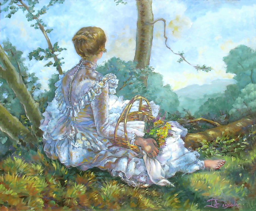 Fragonard Painting - A Beautiful Afternoon by Dominique Amendola