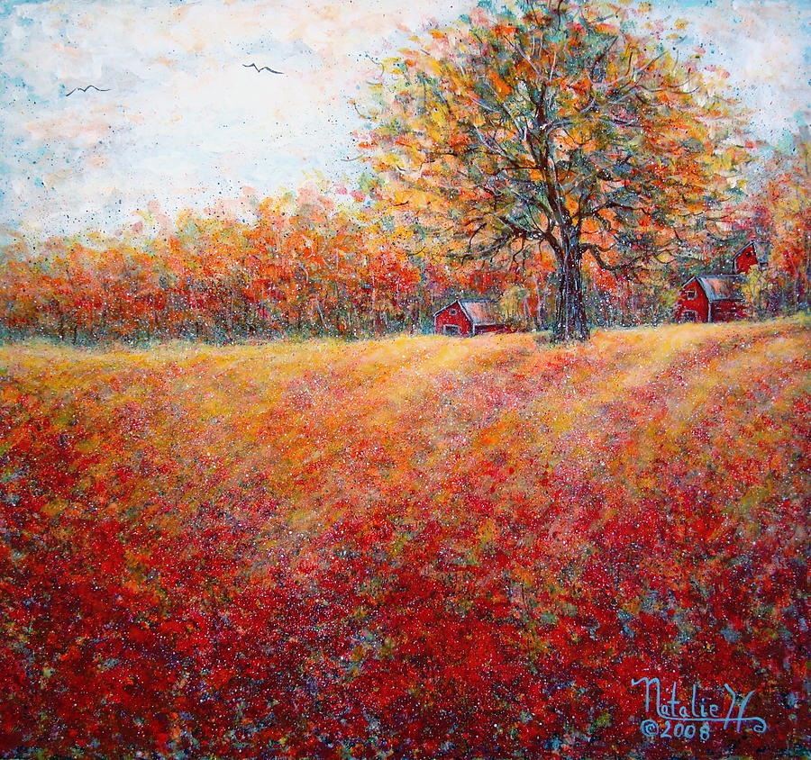 A Beautiful Autumn Day Painting By Natalie Holland