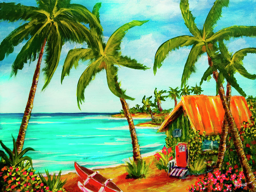 Beach Painting - A Beautiful Day  Oahu #357 by Donald k Hall