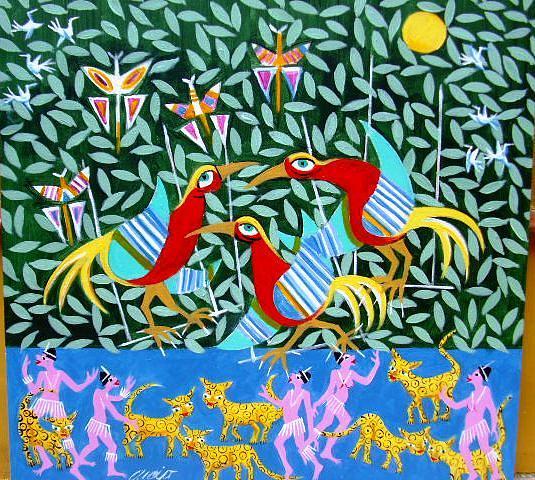 A Bela Amazonas Medida 60x60 A.s.t   Painting by Aecio  Andrade
