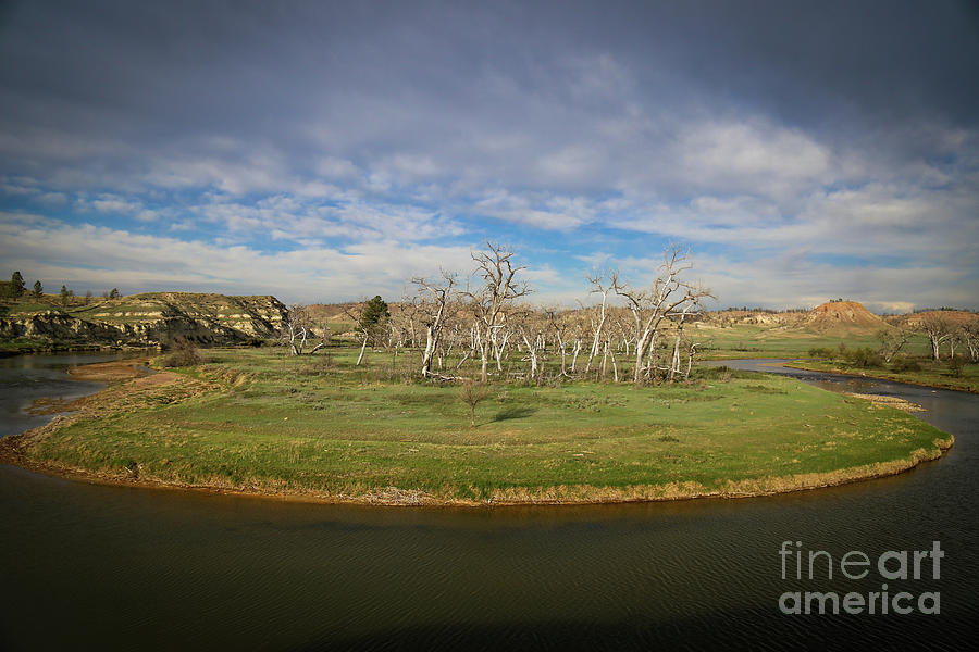 Landscape Photograph - A Bend In The River by Shevin Childers