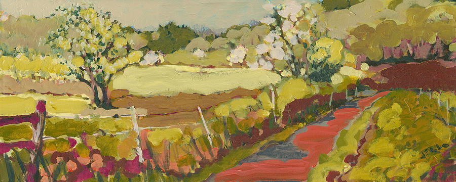 Landscape Painting - A Bend in the Road by Jennifer Lommers