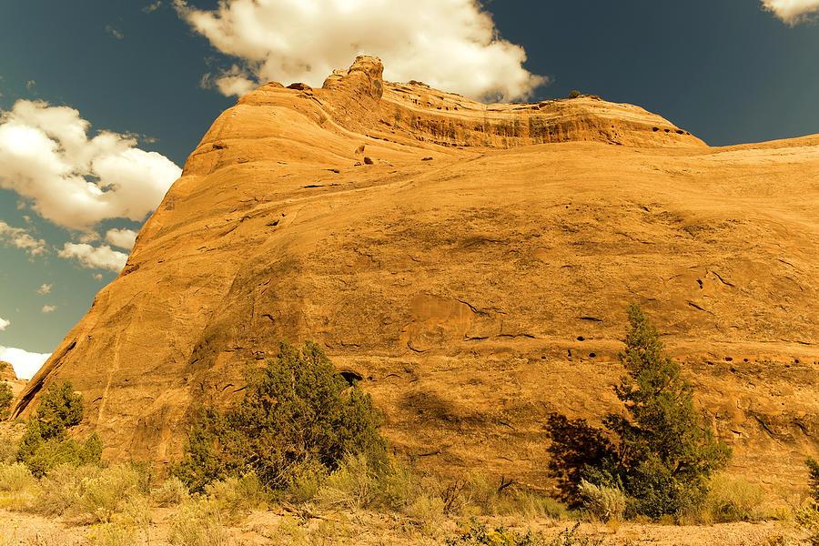 Rocks Photograph - A Big Mountainous Rock On The Gemini Trail Moab Utah  by Jeff Swan
