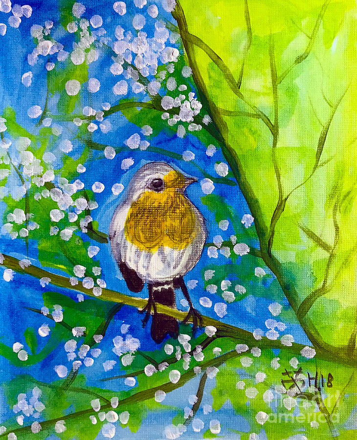 Bird Painting - A Bird by Wonju Hulse