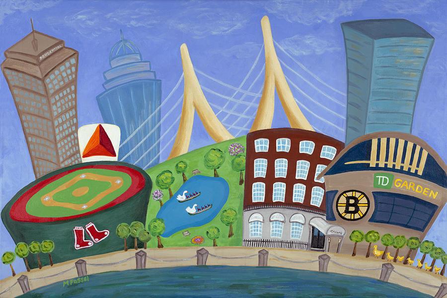 Boston Painting - A Bit O Boston by Melissa Fassel Dunn