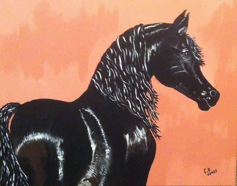 Arabian Painting - A Black Tie Affair by Chris Bajon Jones