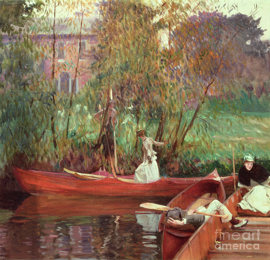 Boat Painting - A Boating Party  by John Singer Sargent