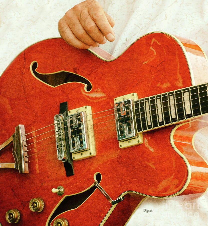 Guitar Photograph - A Body Of Red  by Steven Digman