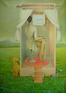 2005 Painting - A Booth To See The Clouds by Giuseppe Mariotti