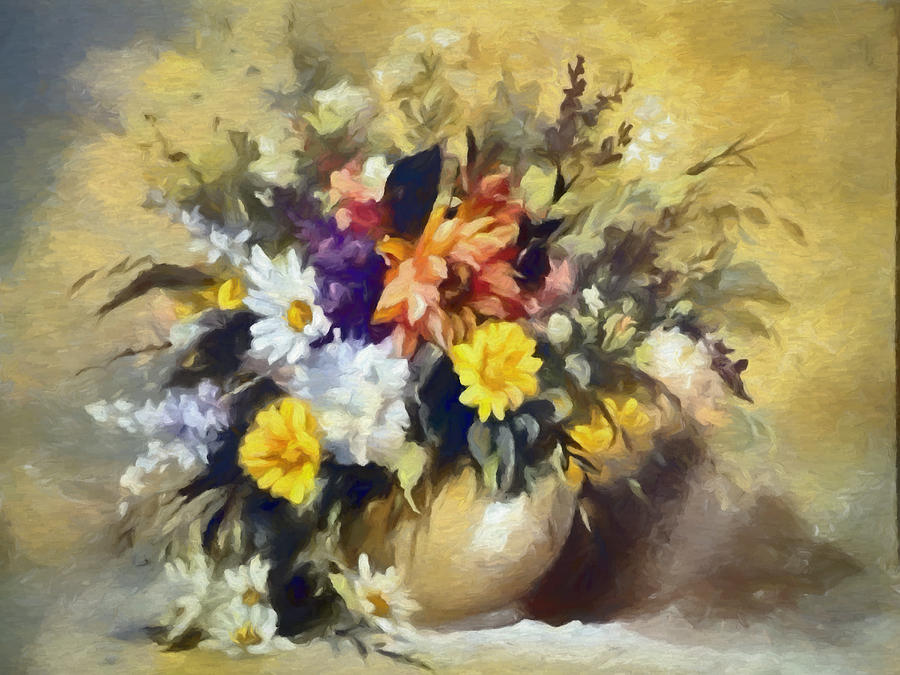 Flowers Digital Art - A Bouquet For Elizabeth by Ronald Bolokofsky