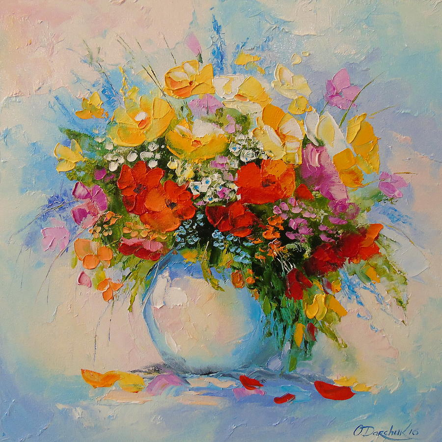 A bouquet of meadow flowers painting by olha darchuk izmirmasajfo