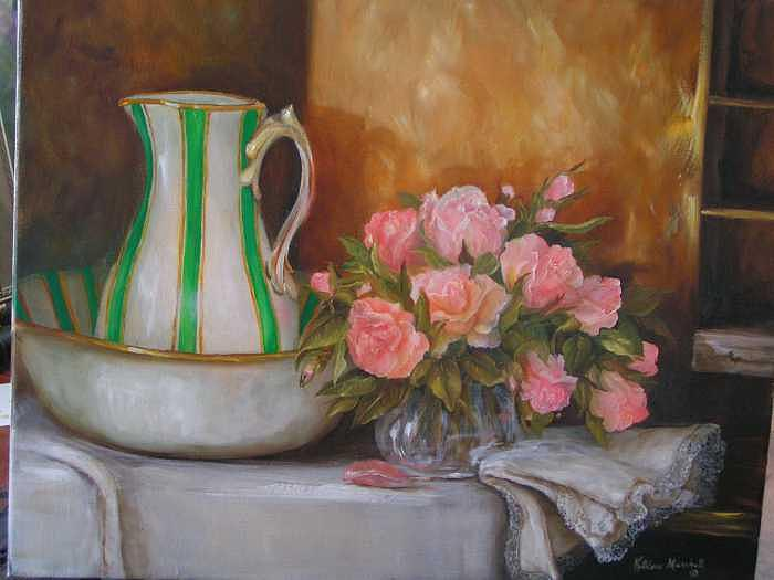 Flowers Painting - A Bouquet Of Roses by Kathleen Marshall McConnell