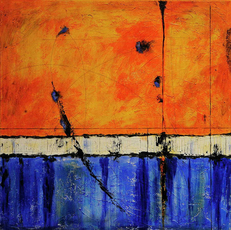 Abstract Painting - A Brand New Day by Jim Benest