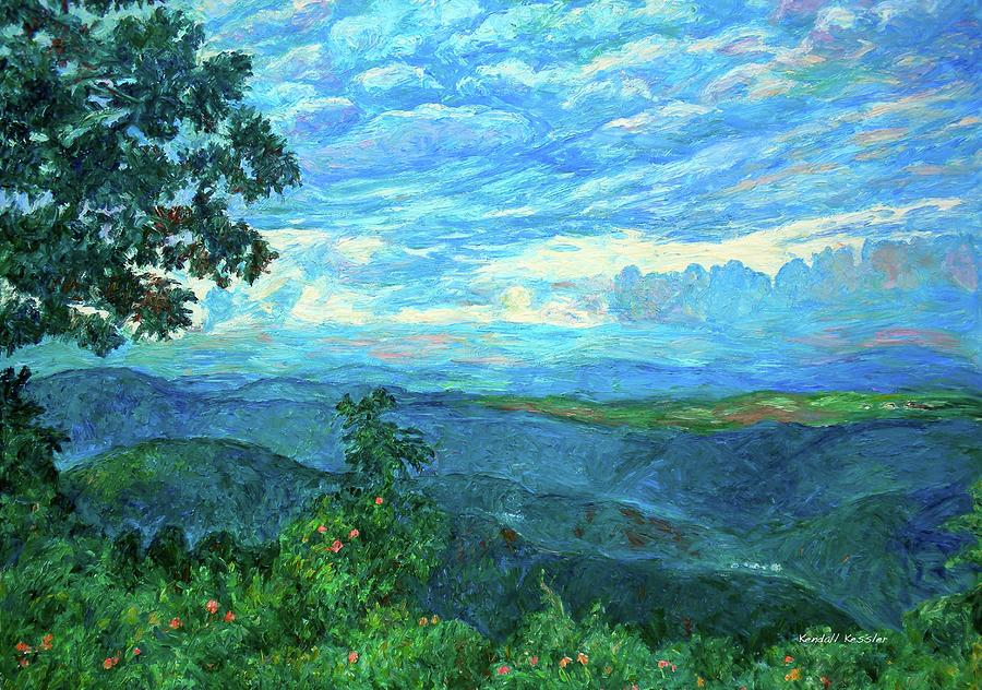 Mountains Painting - A Break In The Clouds by Kendall Kessler