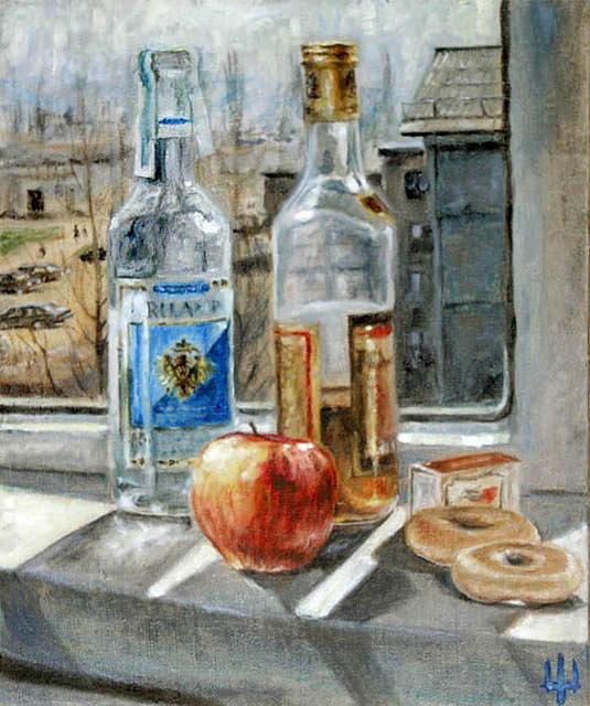 Breakfast Painting - A Breakfast by Yevgeniy Dubkov