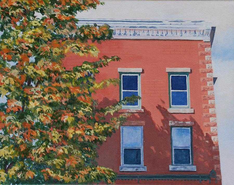 Acrylic Painting - A Brick In Time by Lynne Reichhart