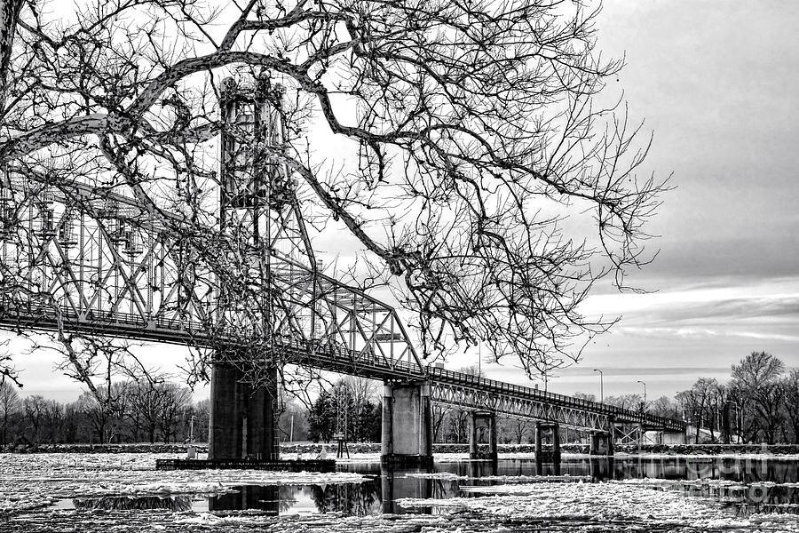 Burlington Photograph - A Bridge In Winter by Olivier Le Queinec