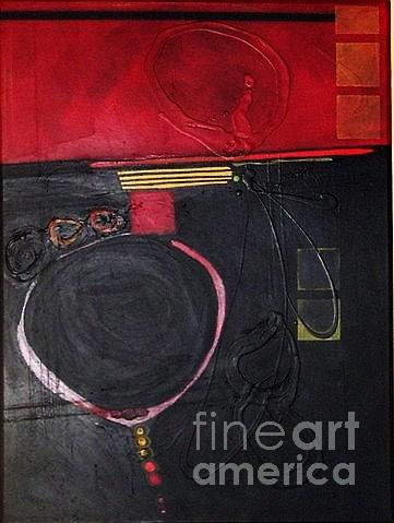 Abstract Painting - A Broken Heart by Marlene Burns