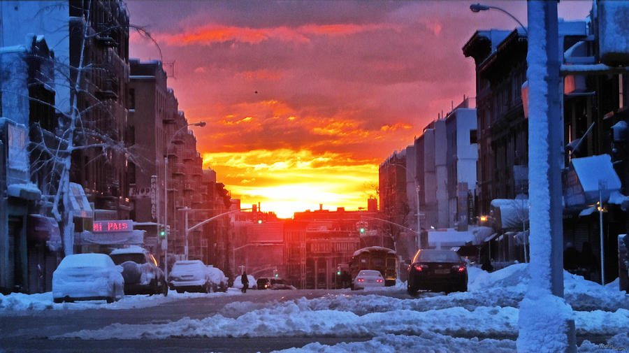 Fire In The Sky Photograph - A Bronx Sunrise by Nidhin Nishanth