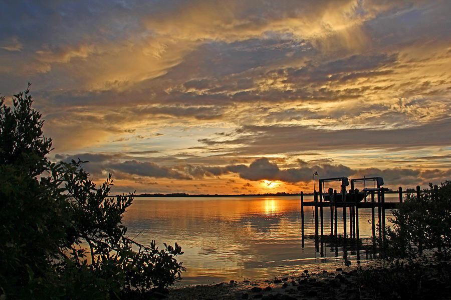 Artwork Photograph - A Brooding Sunset Sky by HH Photography of Florida