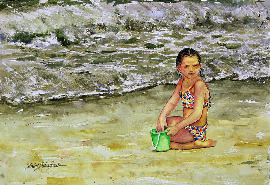 Sun Painting - A Bucket Full Of Ocean by Shirley Sykes Bracken