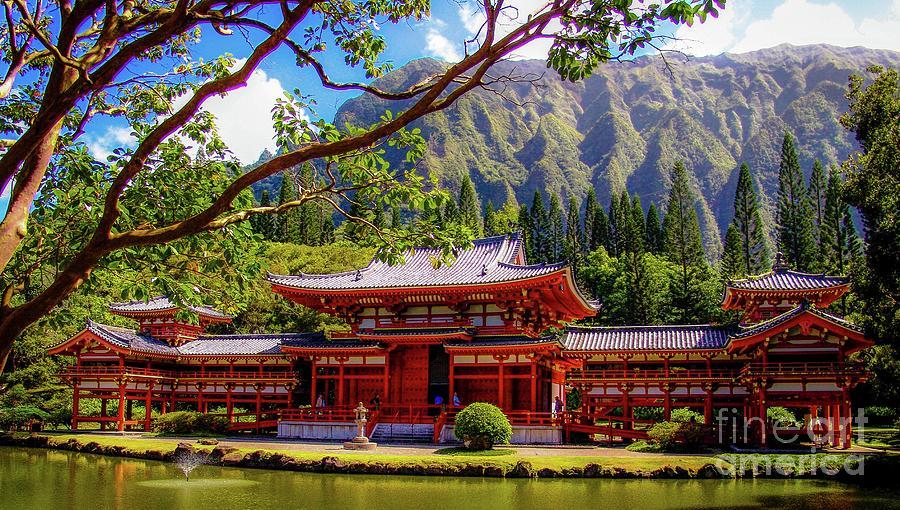 Buddhist Photograph - Buddhist Temple - Oahu, Hawaii - by D Davila