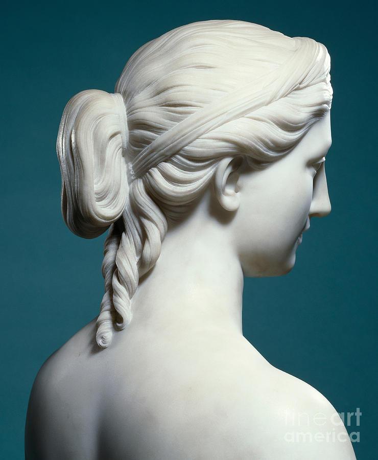 Proserpina Sculpture - A Bust Of Proserpine by Hiram Powers