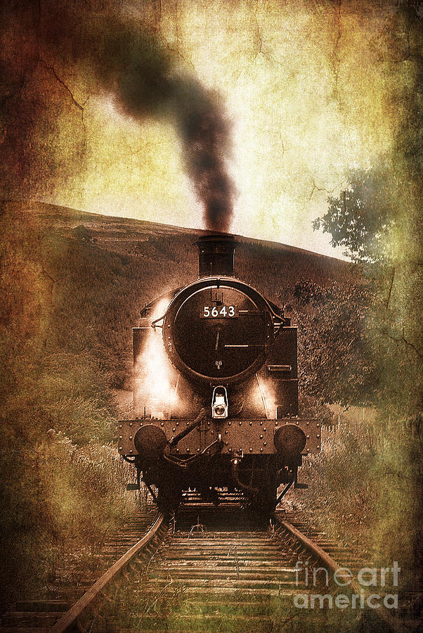 Train Photograph - A Bygone Era by Meirion Matthias
